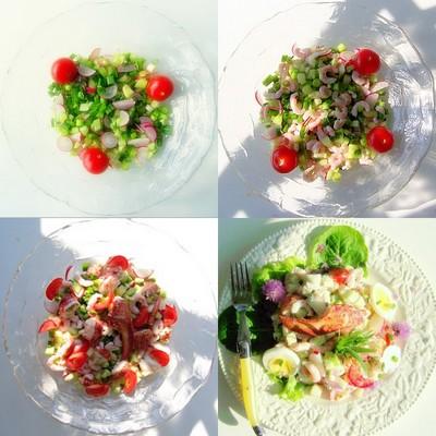 Jardinière de légumes et de fruits de mer - Photo par louisep