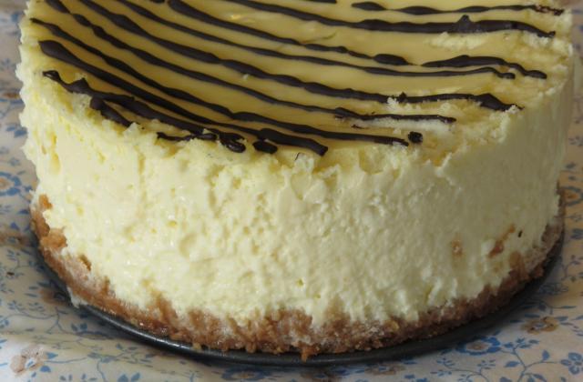 Cheesecake marbré au citron vert et chocolat - Photo par eloala