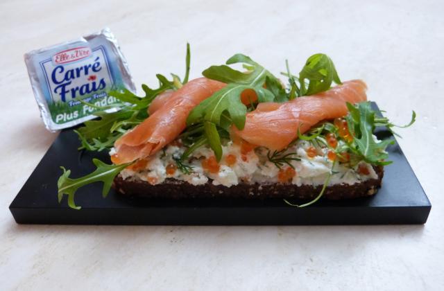 Tartine norvégienne au Carré Frais - Photo par scoubiS