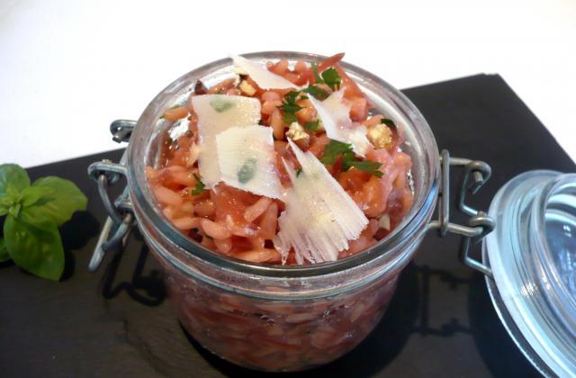 Risotto rose aux noisettes croquantes - Photo par Tomate sans graines