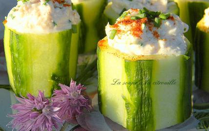 Bouchées de concombre au crabe - Photo par La soupe à la citrouille