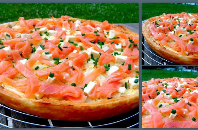 Tarte au saumon fumé à la carbonara - Photo par CookingFeeLili