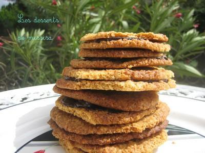 Biscuits doubles aux flocons d'avoine et chocolat - Photo par missis