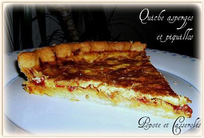 Quiche asperges et poivrons del piquillos - Photo par Marjolaine86