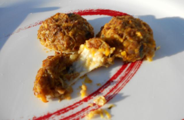 Boulettes de courgettes à la mozzarella - Photo par Julie F