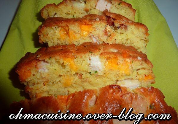 Cake poulet roti mimolette - Photo par ohmacuisine