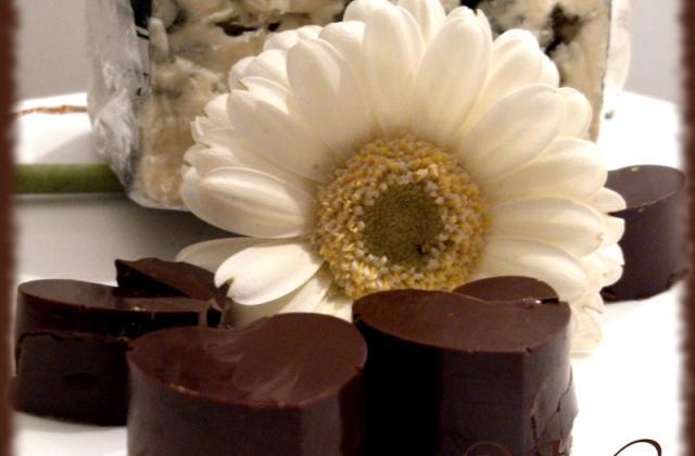 Chocolats, coeur au Roquefort - Photo par Blog d'Elisa