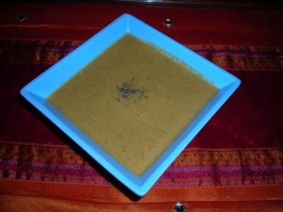 Veloué de potimarron au champignons et basilic - Photo par jlauree