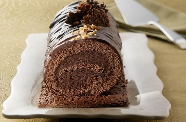 Bûche croustillante au chocolat - Photo par Cedus Le sucre