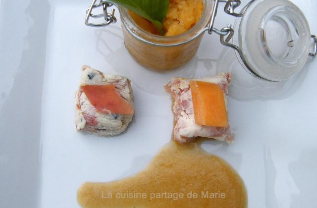 Déclinaison autour du melon et jambon de bayonne - Photo par marierechou