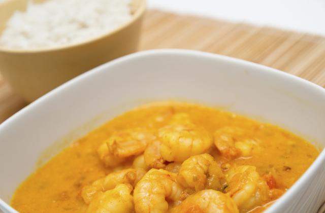 Crevettes au curry et coco - Photo par cahuete
