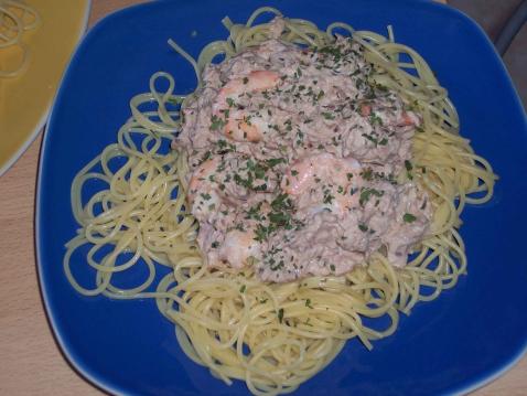 Spaghettis aux crevettes - Photo par LEGUAY CLARISSE