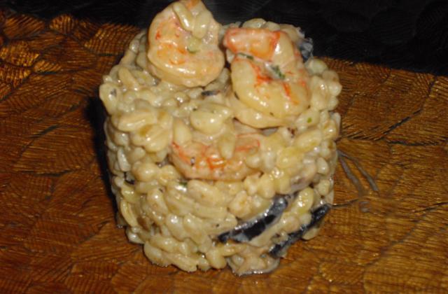 Blésotto champignons et crevettes - Photo par capucin51