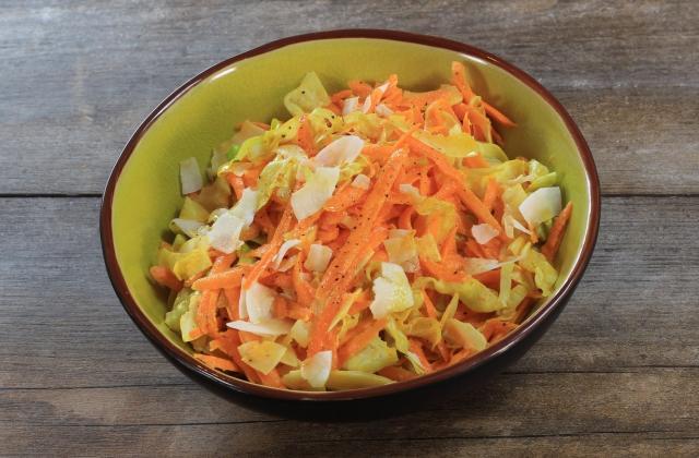 Salade de carottes râpées, coco et citron vert - Photo par 750g