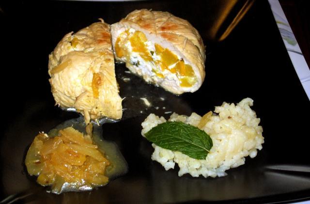Paupiettes de dinde, farcies à la courgette jaune - Photo par Capipiou