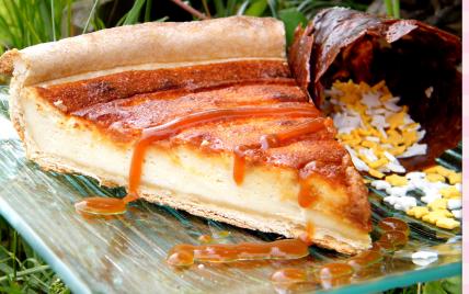 Tarte légère mirabelle et caramel - Photo par chouya