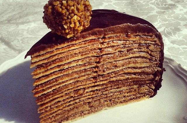 Mille crêpes à la noisette et au chocolat - Photo par Chef_spatule