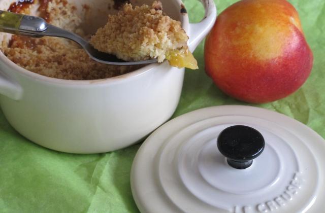 Crumble aux nectarines et au yaourt - Photo par sandpl