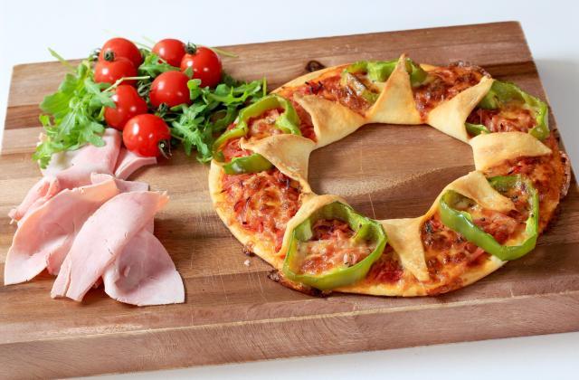 Pizza soleil aux poivrons, jambon et mozza - Photo par LG