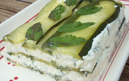 Lasagnes du potager courgettes et menthe - Photo par La soupe à la citrouille