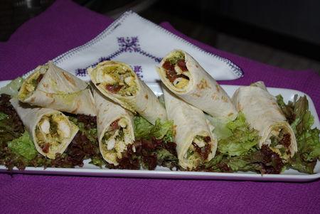 Roulés au poulet (mini wraps) - Photo par mejdab