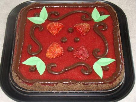 Tarte aux fraises et chocolat - Photo par Les Gâteaux Magiques d'Alilo