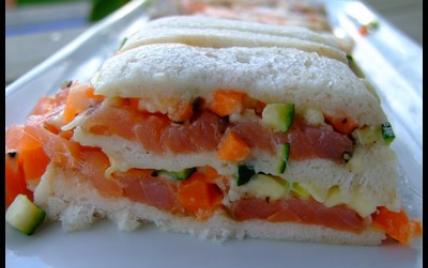 Pain moelleux de saumon fumé aux légumes - Photo par claudi5S
