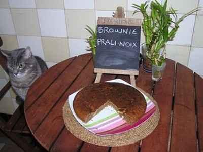 Brownie prali-noix au beurre salé - Photo par chafou