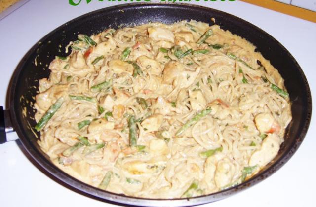 Nouilles chinoises aux légumes et au poulet - Photo par julie1s