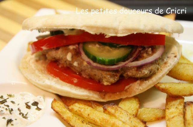 Hamburger grec - Photo par Cricri les petites douceurs