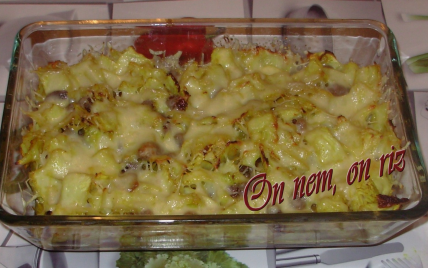 Gratin de chou blanc au curry et aux raisins - Photo par paulinc7
