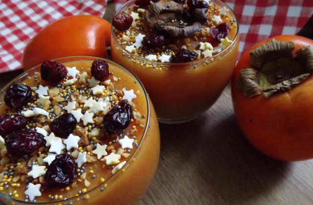 Verrines de compote de Poire et purée de kaki - Photo par Poucinette Cook