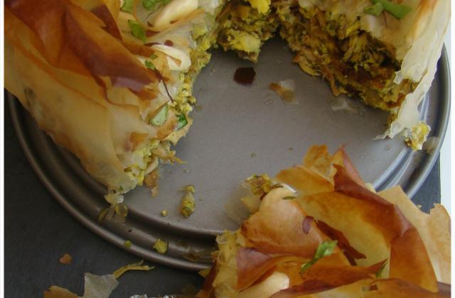 Pastilla marocaine au poulet et amandes - Photo par scalfo