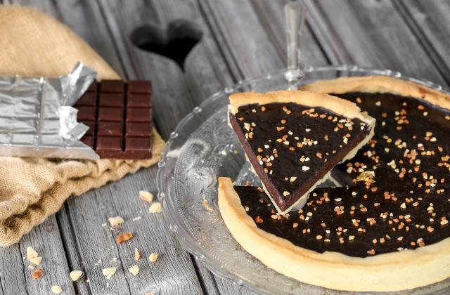 Tarte allégée au chocolat - Photo par 750g