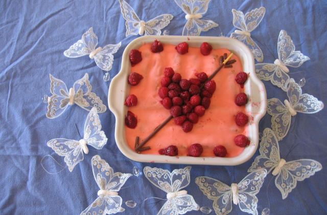 Tiramisu rose-framboises pour la saint-valentin - Photo par Orchidée94