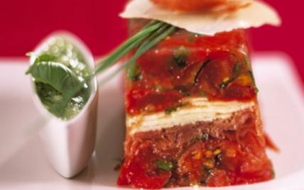 Terrine de Tomates de France aux copeaux de Parme et Parmesan - Photo par Tomates de France