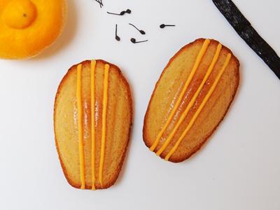 Madeleine au citron bergamote, vanille et poivre de Madagascar - Photo par Pâtisserie et Gourmandise
