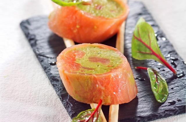 """Médaillons de saumon à la crème d""""avocat - Photo par Toupargel"""