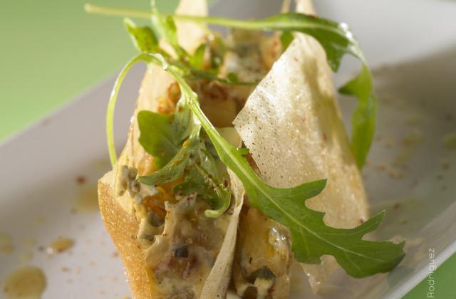 Mille-feuille croustillant et ses légumes fondants au Bresse Bleu - Photo par Quiveutdufromage.com