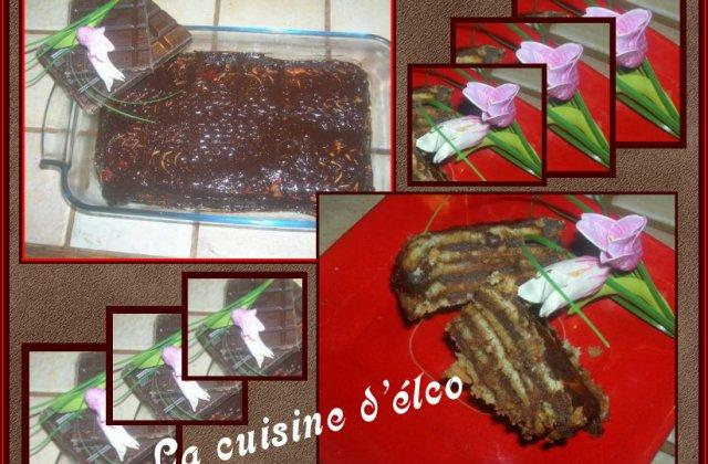 Gâteau au chocolat et petit beurre - Photo par champs8