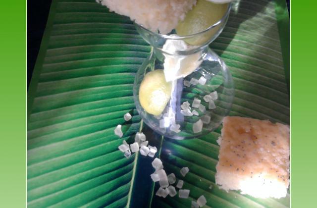 Gâteau aux petits suisses et citron vert - Photo par les gourmandises de nadia