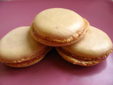 Macarons acidulés à la framboise - Photo par noriab