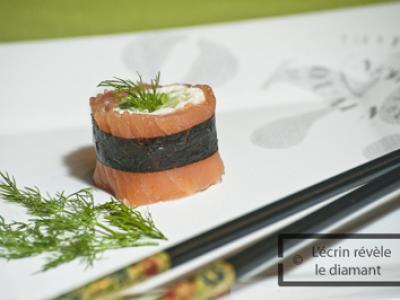 Makis saumon boursin concombre (Kappa) - Photo par Sophie-Diamant