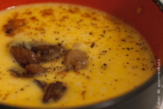 Velouté potiron, marrons et Kiri - Photo par Cahier de gourmandises