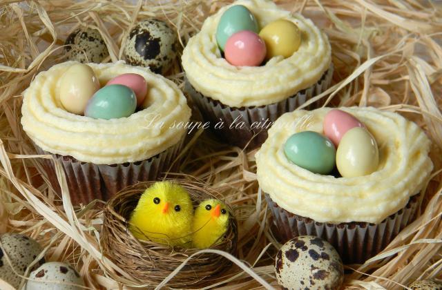 Easter cupcakes (cupcakes de Pâques) - Photo par La soupe à la citrouille