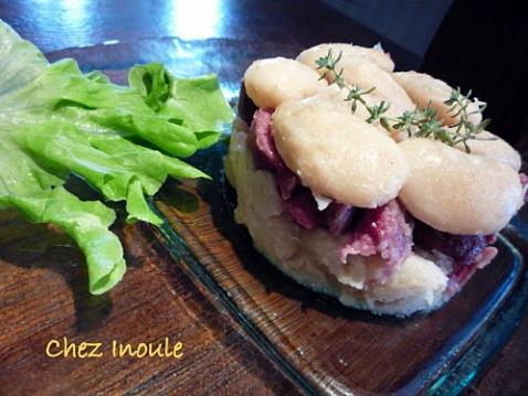 Délice aux haricots de Soissons et aux gésiers confits - Photo par Chez Inoule