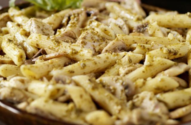 Gratin de pâtes au poulet et Bresse Bleu - Photo par 750g