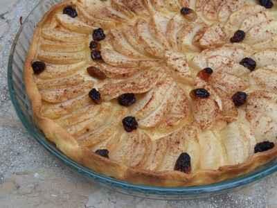 Tarte aux pommes avec gelée et sirop d'érable - Photo par vivaudou