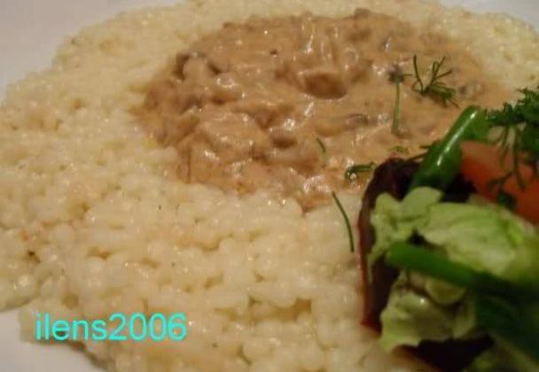 Paprikas de champignons et couscous israelien - Photo par ilens2006