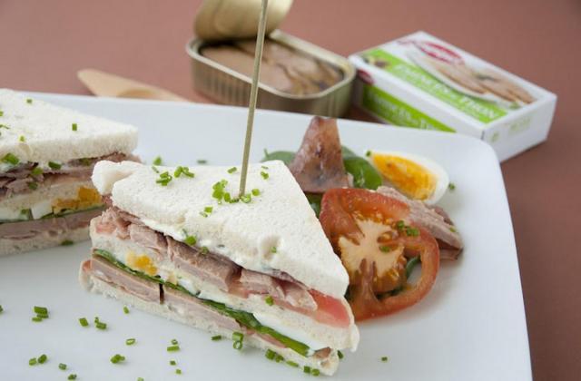 Club sandwich - Photo par Saupiquet